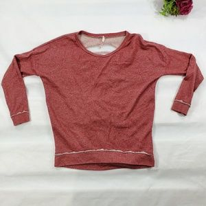 Intentionally Destroyed Red Pullover Sweater